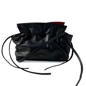 Mansur Leather Drawstring Mini Protea w Red Lining